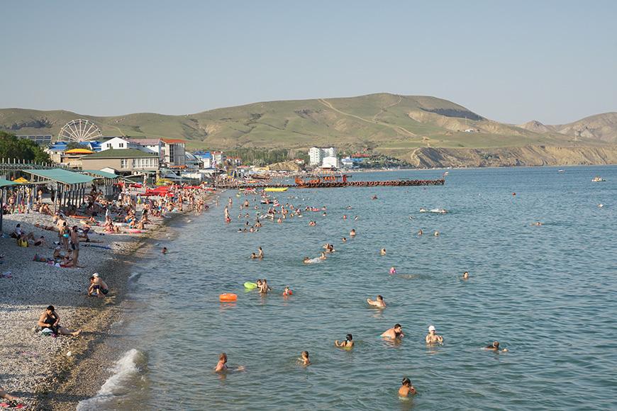 Пляжи Коктебеля в Крыму фото